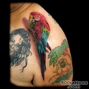 Pin 3d Colorful Parrot Tattoo Design For Front Shoulder on Pinterest_6