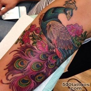 61 Beautiful Peacock Tattoo Pictures and Designs   Piercings Models_6