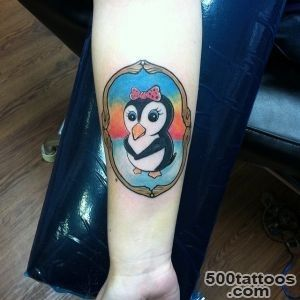 50 Cute and Funny Penguin Tattoo Designs_27