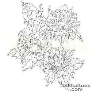 Peony Tattoo Designs  Flower Meanings, Pictures and Photos_47