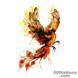 Flying Colored Phoenix Tattoo Design (736?966)  Tattoos _40