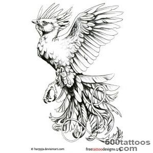 Phoenix Tattoos  75 Cool Designs_7