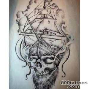 9+ Pirate Ship Tattoos Designs_46