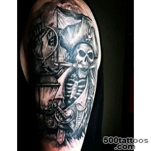 50 Pirate Tattoos For Men   Arrr, Ships And Eye Patches_19