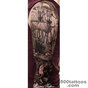 Off the Map Tattoo  Tattoos  Remis Tattoo  Pirate Tattoo_34