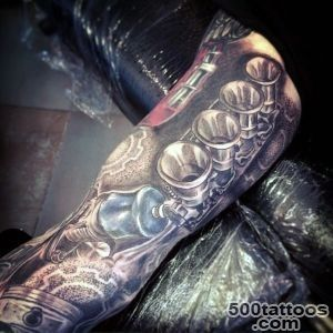 60 Piston Tattoo Designs For Men   Unleash High Horsepower_24