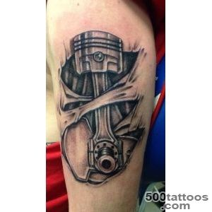 Piston tattoo designs ideas meanings images for Mechanic tattoo ideas