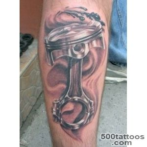 Arm Realistic Piston Tattoo by Bloody Blue Tattoo_35