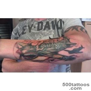p 40 tattoo airplane tattoo  Headless Hands Custom Tattoos Shop _23