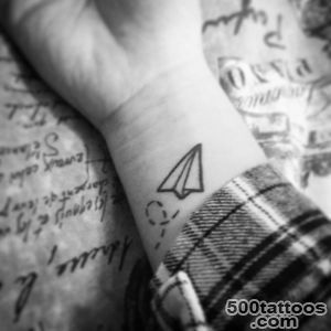 Paper plane tattoo on the left inner wrist   Little Tattoos for _37