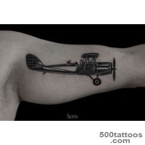 plane tattoo by Ilya Brezinski   Design of TattoosDesign of Tattoos_19