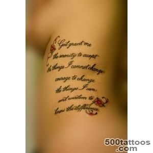 25 Graceful Serenity Prayer Tattoos_27