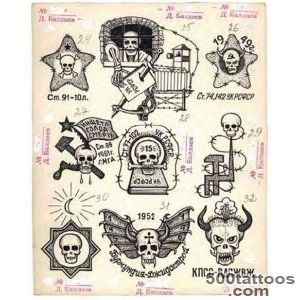 I am very fascinated with Russian criminal tattoos Someday I _33