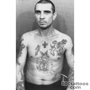 Russian Criminals Display Their Prison Tattoos  Photo gallery _49
