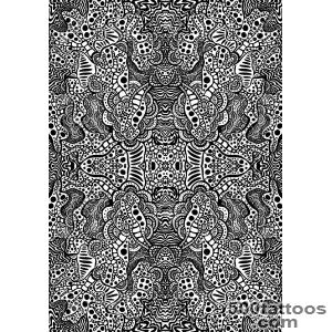 Hypnotic Psychedelic Tattoo Graphic Background Stock Photo _28