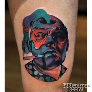 Johnny Depp Psychedelic Thigh Piece  Best tattoo ideas amp designs_19