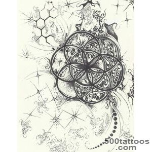 Tattoos on Pinterest  Flower Of Life, Sacred Geometry Tattoo and _29