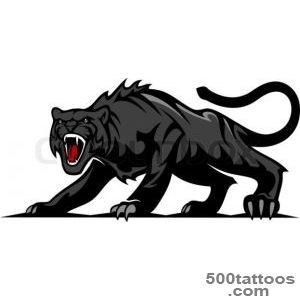 Danger black panther or puma for mascot and tattoo design  Vector _50