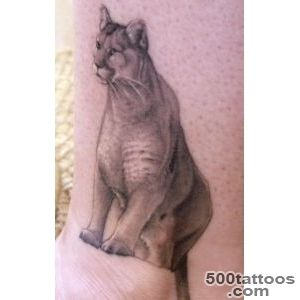 Wonderful Realistic Puma Face Color Tattoo On Right Shoulder_44