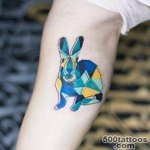 Rabbit tattoo design, idea, image