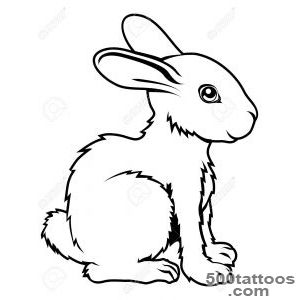 An Illustration Of A Stylised Rabbit Perhaps A Rabbit Tattoo _50