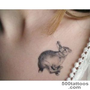 Grey Ink Rabbit Tattoo Design By Rosie Meade Kemp_48