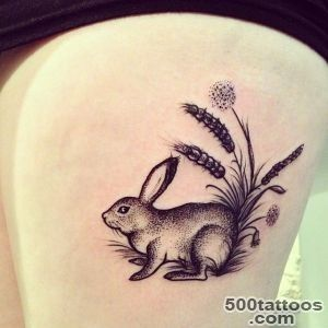 Rabbit tattoo ideas   Tattoo Designs For Women!_20