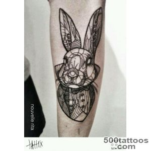White rabbit tattoo by Marissa  We Heart It_19