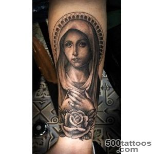 Rose Virgin Mary Graphic Religious tattoo  Best Tattoo Ideas Gallery_48