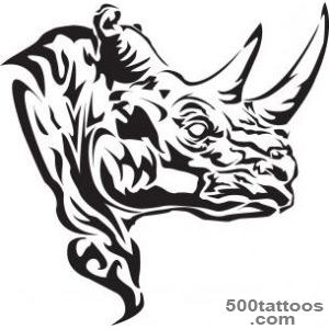 25+ Wonderful Rhino Tattoos Designs_17