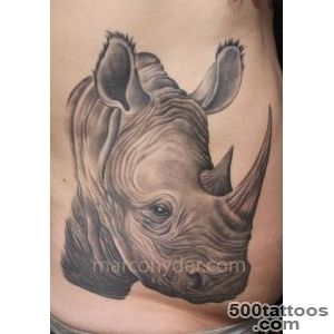 30+ Outstanding Rhino Tattoos_1