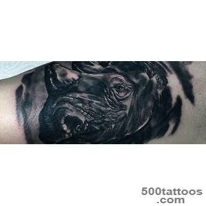 90 Rhino Tattoo Designs For Men   Cool Rhinoceros Ink Ideas_27