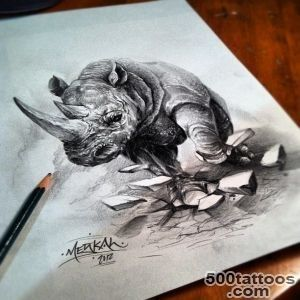 1000+ ideas about Rhino Tattoo on Pinterest  Jaguar Tattoo _5
