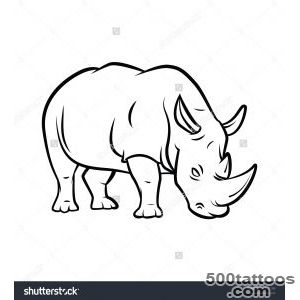 Rhinoceros Tattoo Stock Vector Illustration 175831199  Shutterstock_29