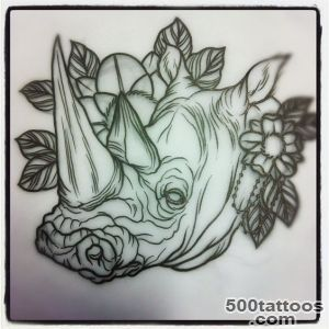 rhino tat on Pinterest  Rhinos, Elephant Tattoos and Inked Magazine_23
