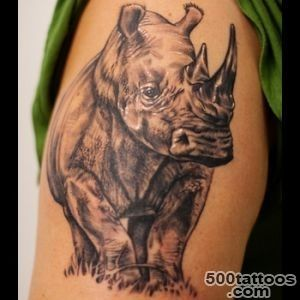 Rhino Tattoo Meanings  iTattooDesignscom_3