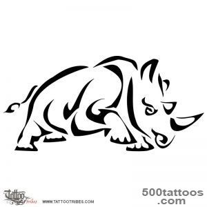 Tattoo of Stylized rhinoceros, Protection, achievement tattoo _24