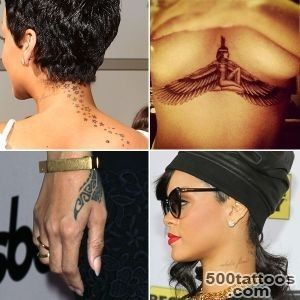 Rihanna#39s Many Tattoos Isis, Guns, Stars, Astrology, and More _2