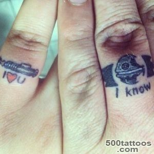 40 Of The Best Wedding Ring Tattoo Designs_14