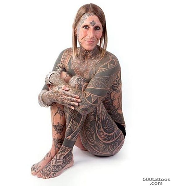Woman Gets Divorced, Tattoos Entire Body_10