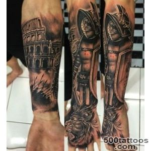 50 Gladiator Tattoo Ideas For Men   Amphitheaters And Armor_5