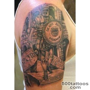 Amazing Roman Warrior Tattoo for Men  Roman Theme Tattoo example _11