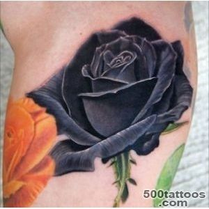 30 Black Rose Tattoo Designs, Images And Picture Ideas_33