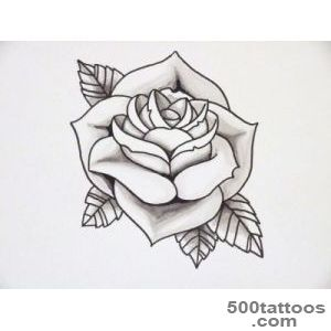 Outline of rose tattoo  Tattoo Collection_2