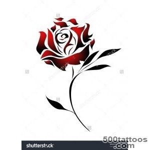 Red Rose Tattoo Design With Path Stock Photo 49475737  Shutterstock_39