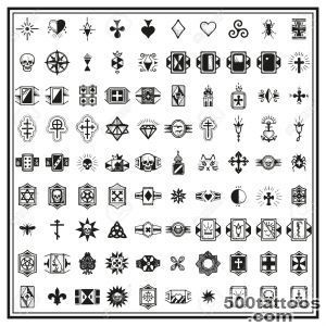 Russian Criminal Finger Tattoos Royalty Free Cliparts, Vectors _32