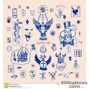 Russian Criminal Tattoo Big Vector Set Of Tattoo Stock Vector _41