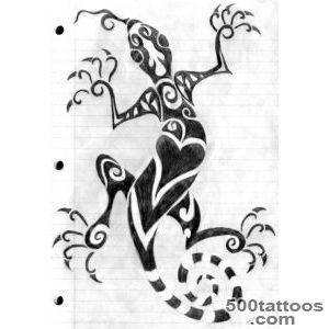 Tribal Salamander Tattoo Drawing By Wind Flower_20