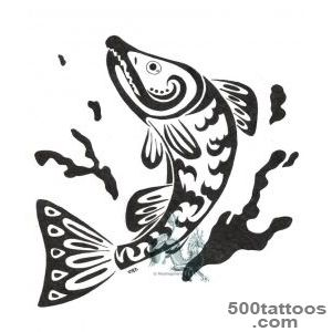 Pin Tribal Salmon Tattoo By on Pinterest_31