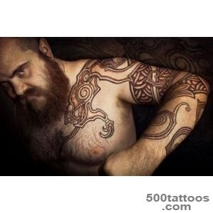 Peter Madsen Scandinavian Tattoo On Front Shoulder_45